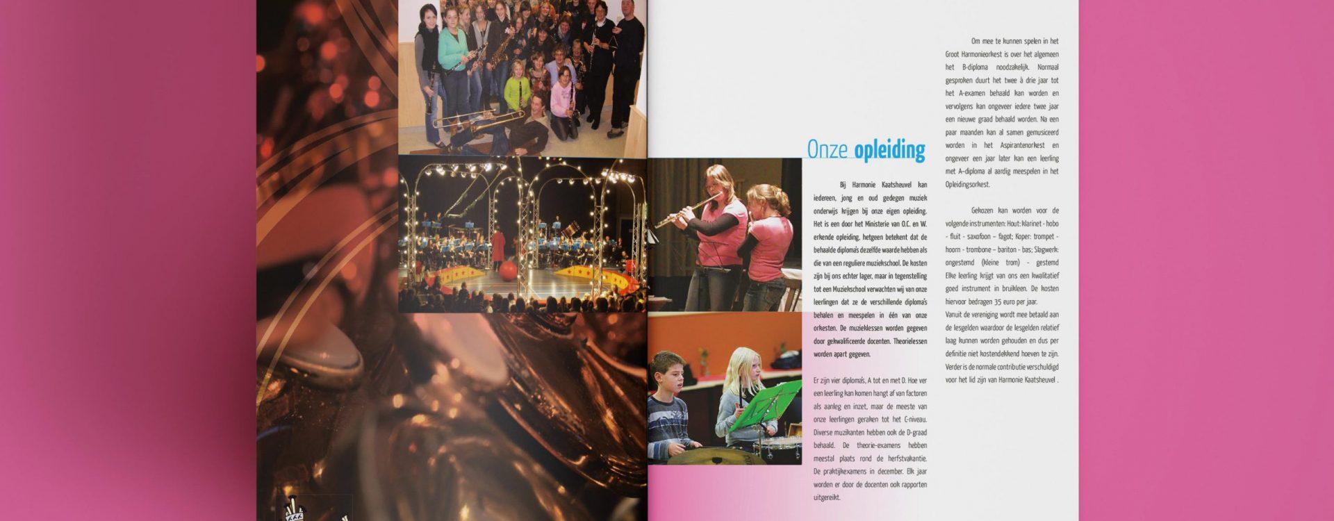 Kleurrijke Brochure voor de Kon. Harmonie Kaatsheuvel