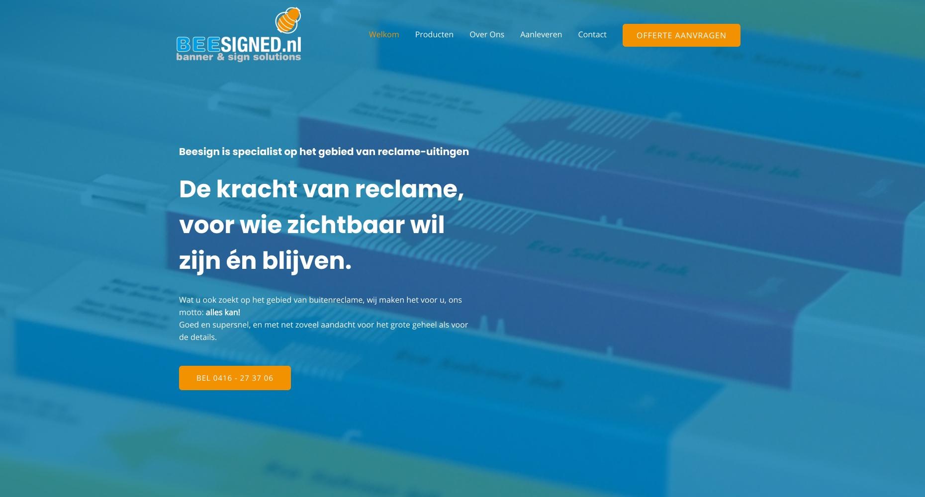 Nieuwe website voor Beesigned.nl